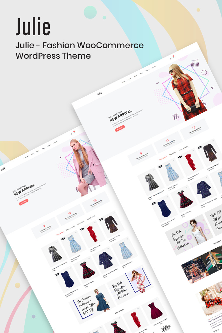 Julie - Fashion WooCommerce Theme