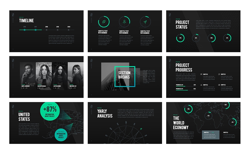 z generation - creative keynote template #65808, Powerpoint templates
