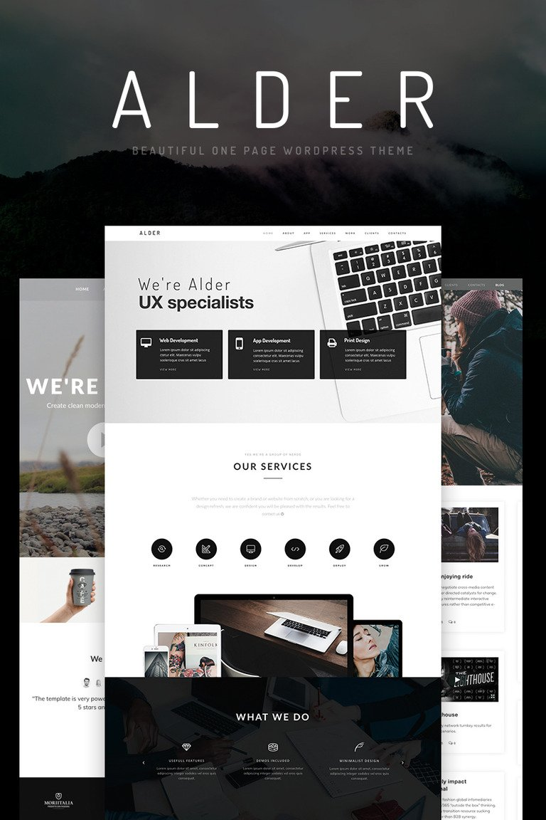 Alder - OnePage WordPress Theme