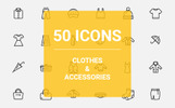 Clothes Iconset Ikon csomag sablon