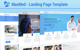 """Landing Page Template namens """"MaxMed Hospital"""""""
