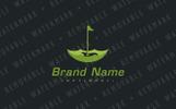 Umbrella Golf Course Logo Template