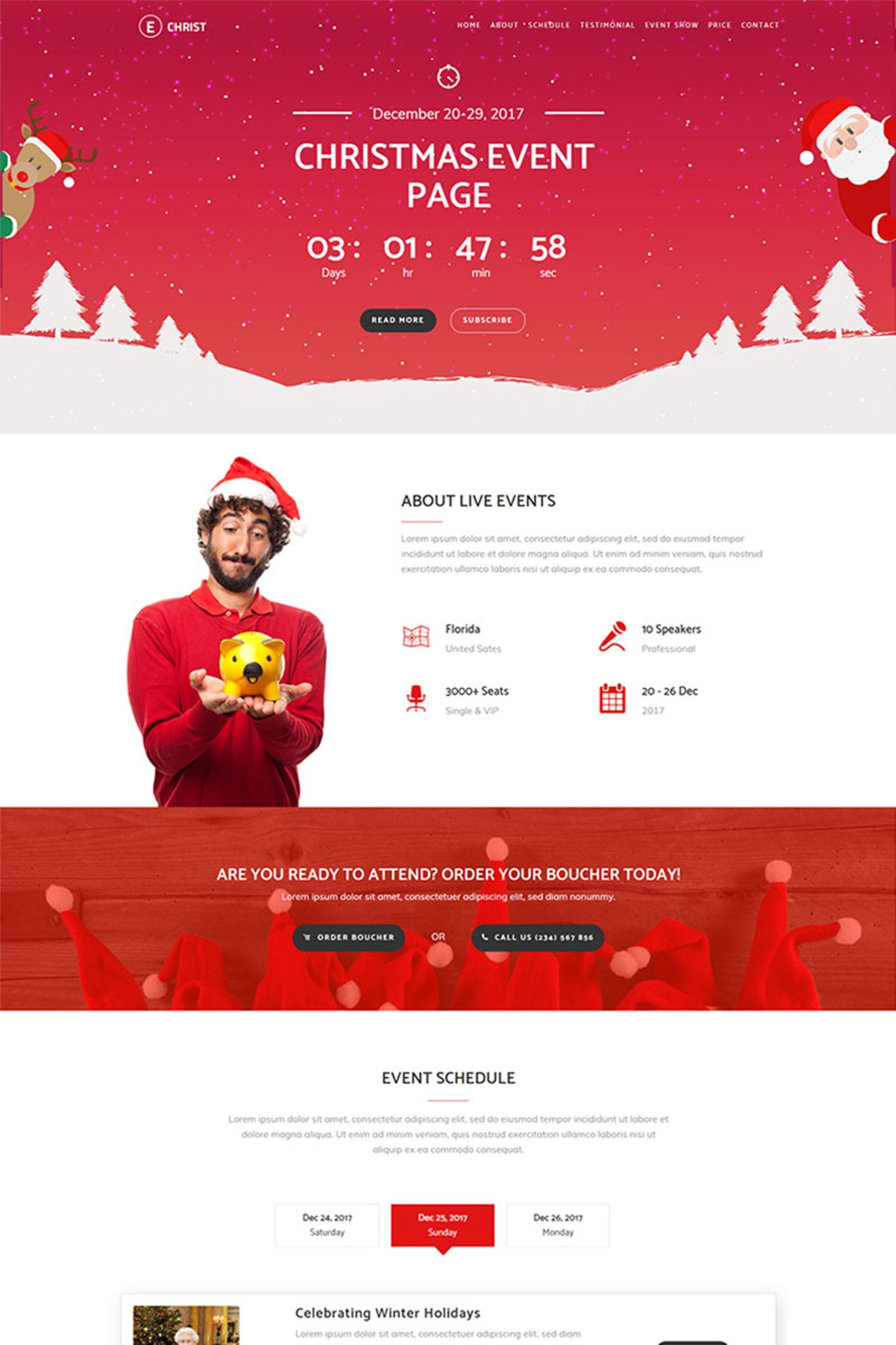 Echrist Responsive Event Landing Page Template 65920