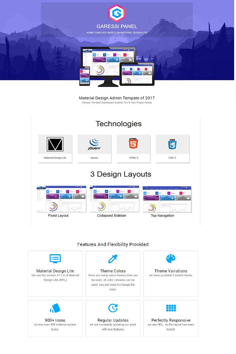 Plantilla para Panel de control #65853 para Sitio de Diseño Web