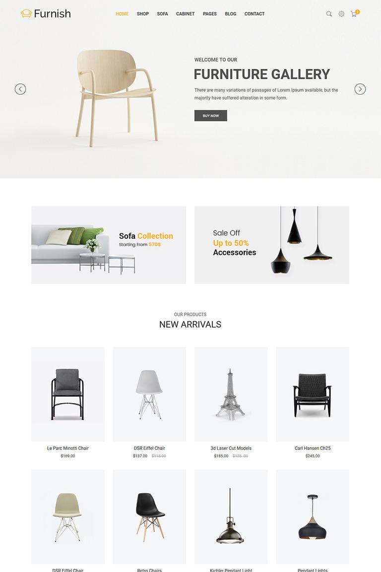 Furnish Minimalist Furniture Website Template 65859