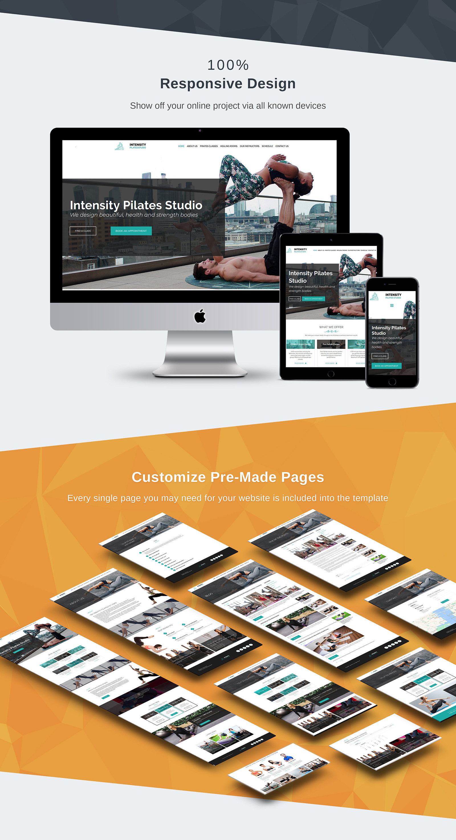 Intensity - Pilates Studio Moto CMS 3 Template