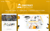 "Website Vorlage namens ""Construct : Construction, Building & Maintenance"""