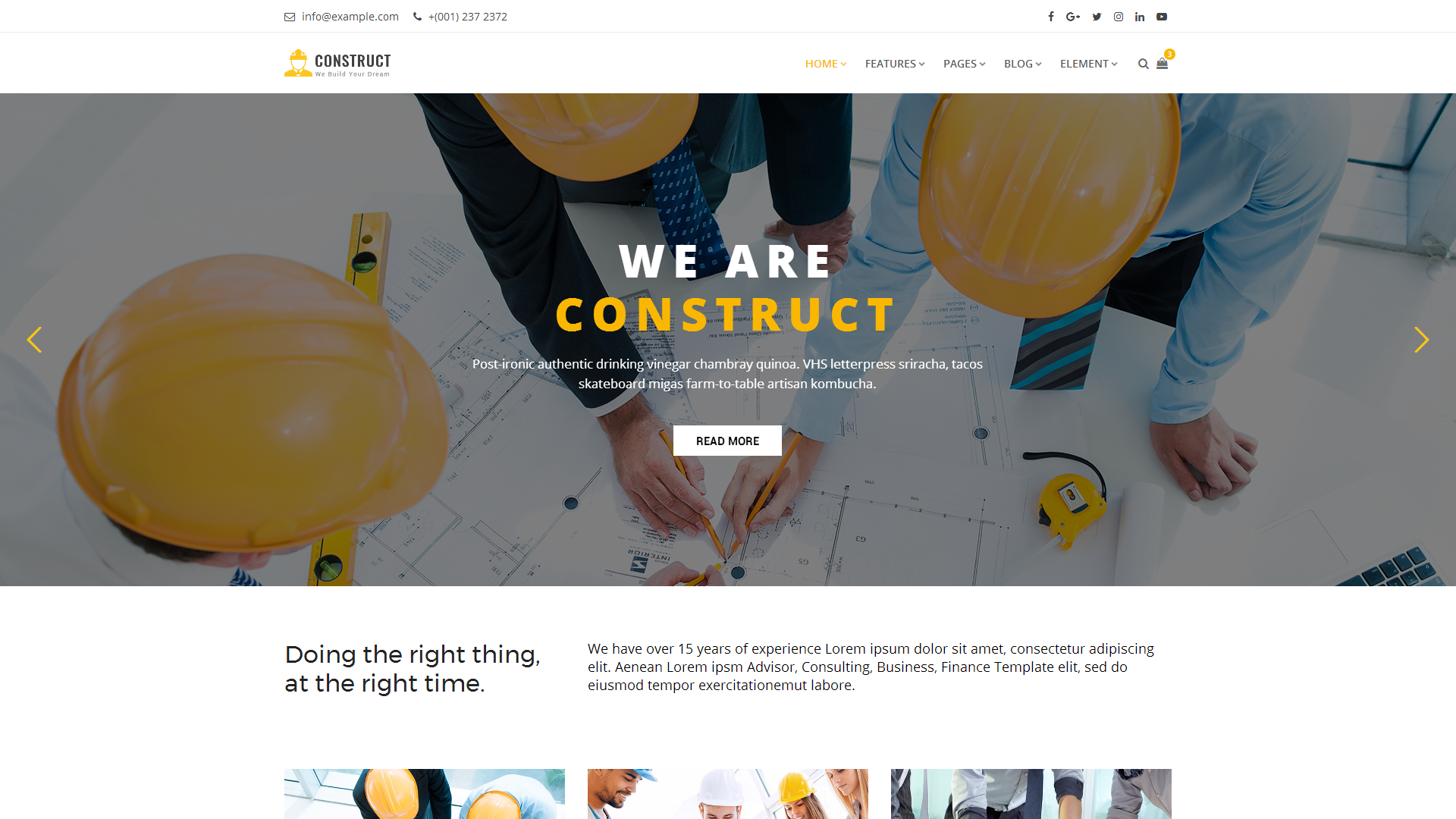 Construct : Construction, Building & Maintenance Website Template #68878