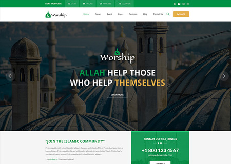 Worship - Islamic Center Bootstrap HTML