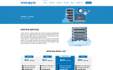 Webople - Domain & Hosting PSD sablon