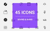 Sound & Audio Icon Set Iconset Template