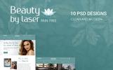 Szablon PSD Beauty By Laser - Clean Beauty PSD Template #78907