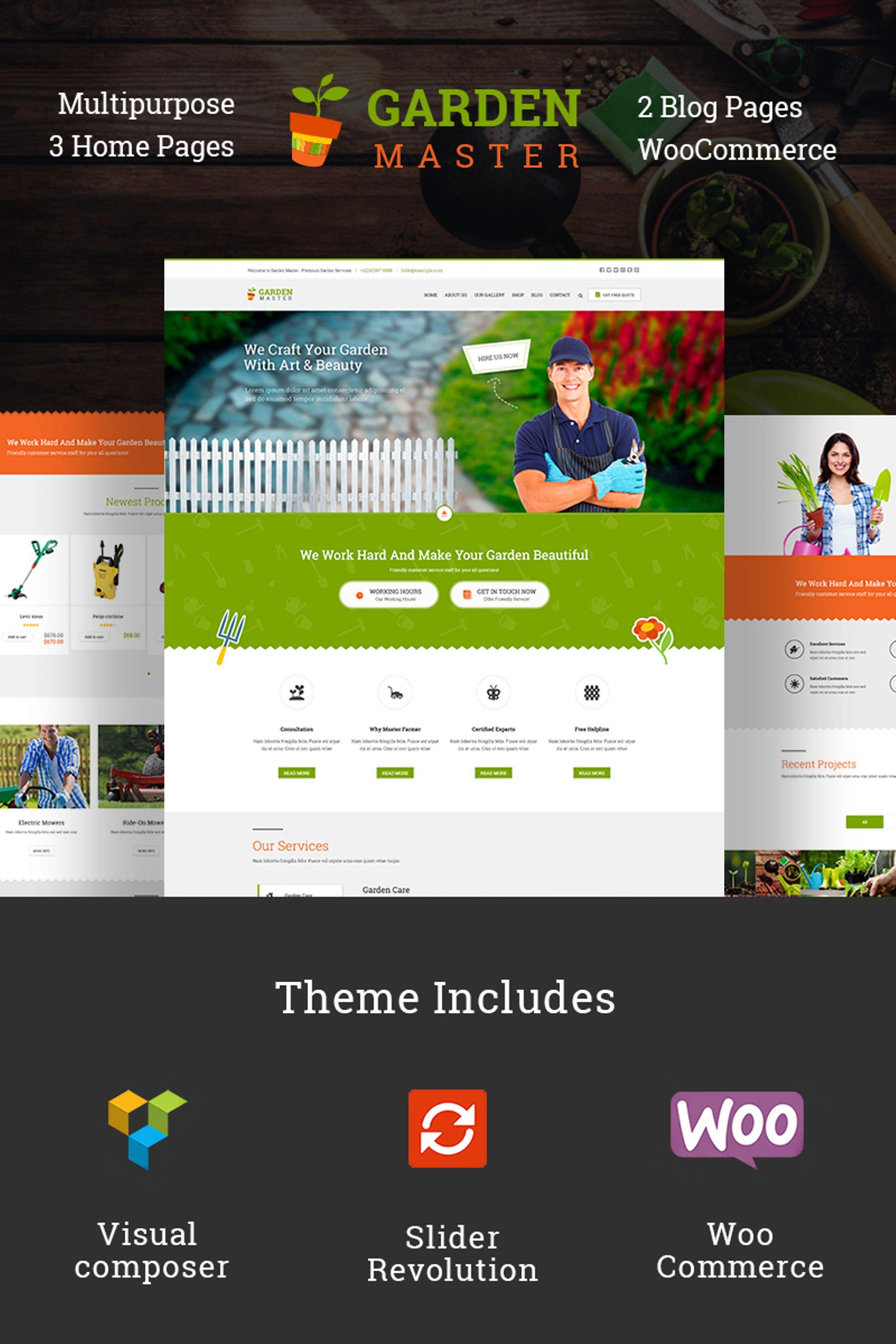 Temas WordPress para Sitios de Diseño de Jardines