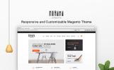 """Hurama - Responsive and Customizable"" thème Magento adaptatif"
