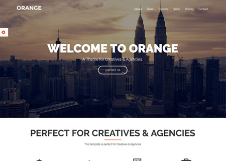 Orange - One Page Bootstrap