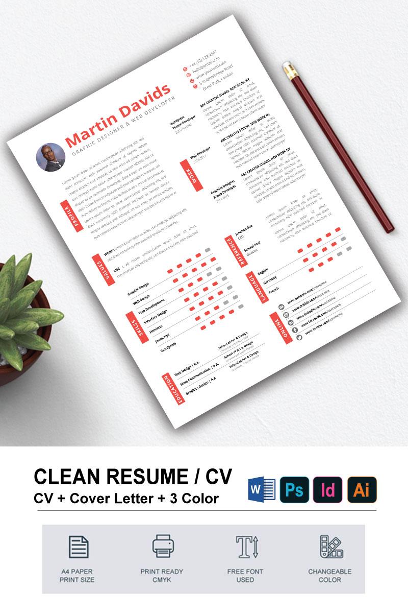 martin davids cv design resume template  79232