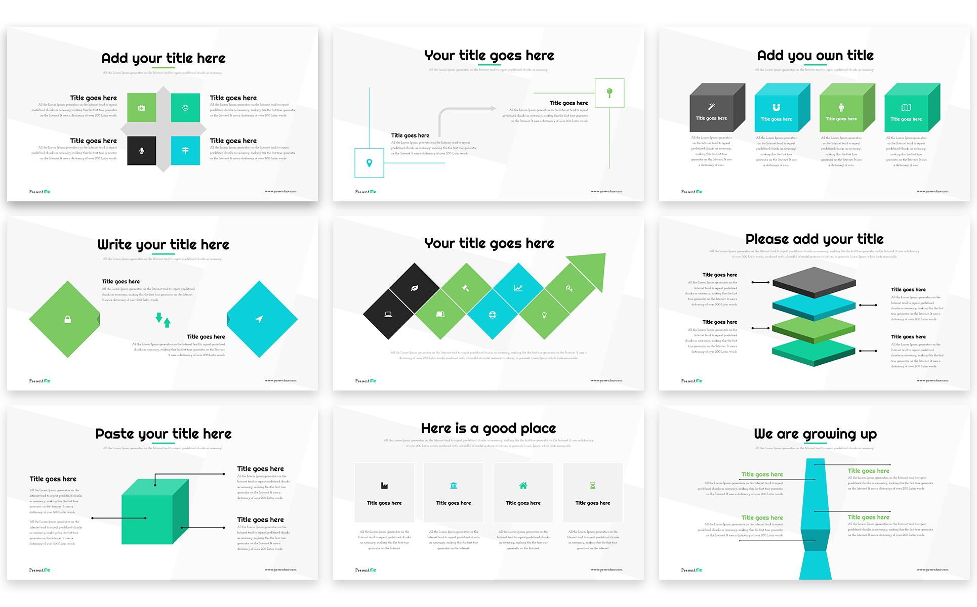 PowerPoint Vorlage #65852 für Designer Portfolio