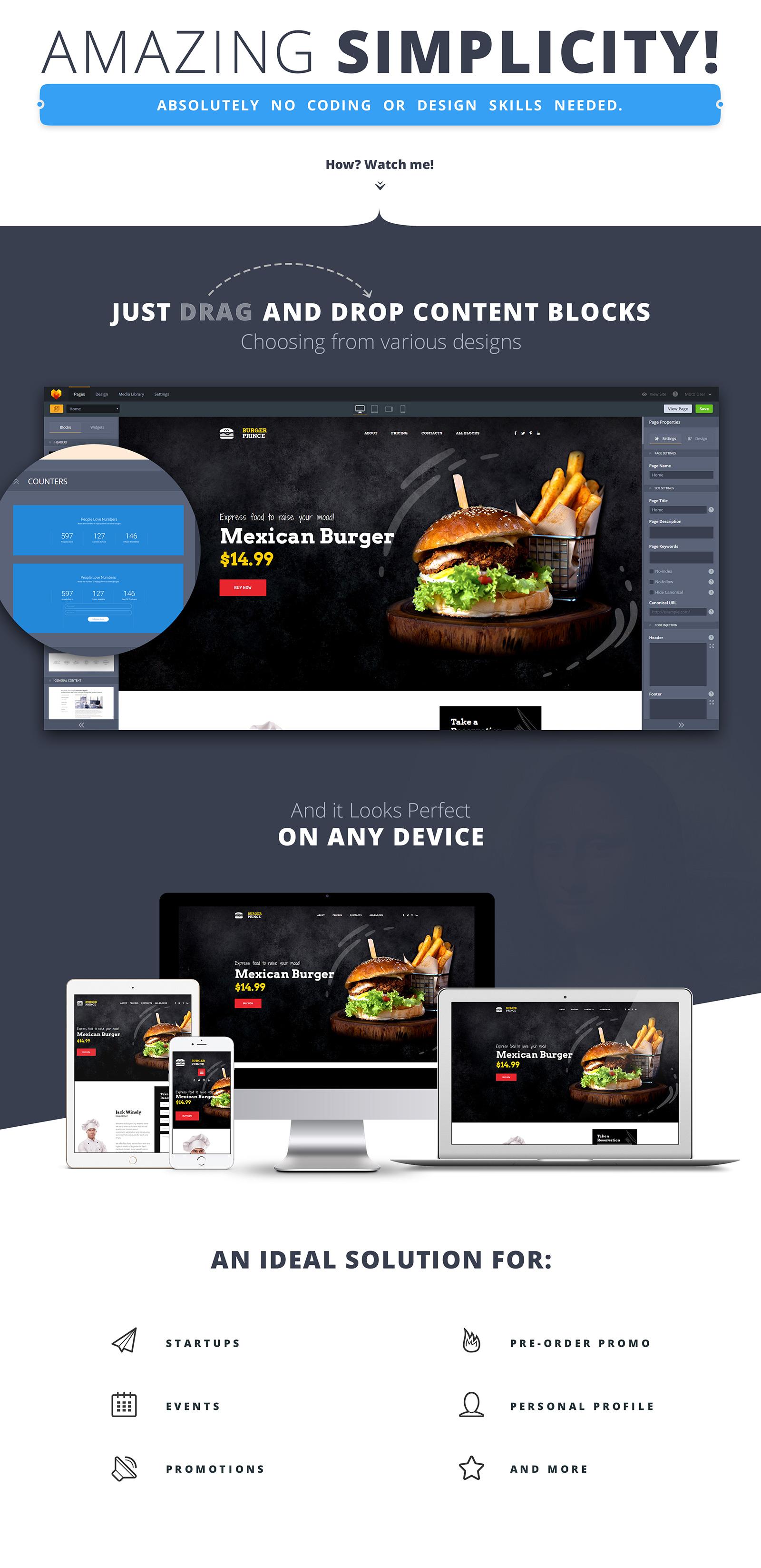 Burger Prince Landing Page Template