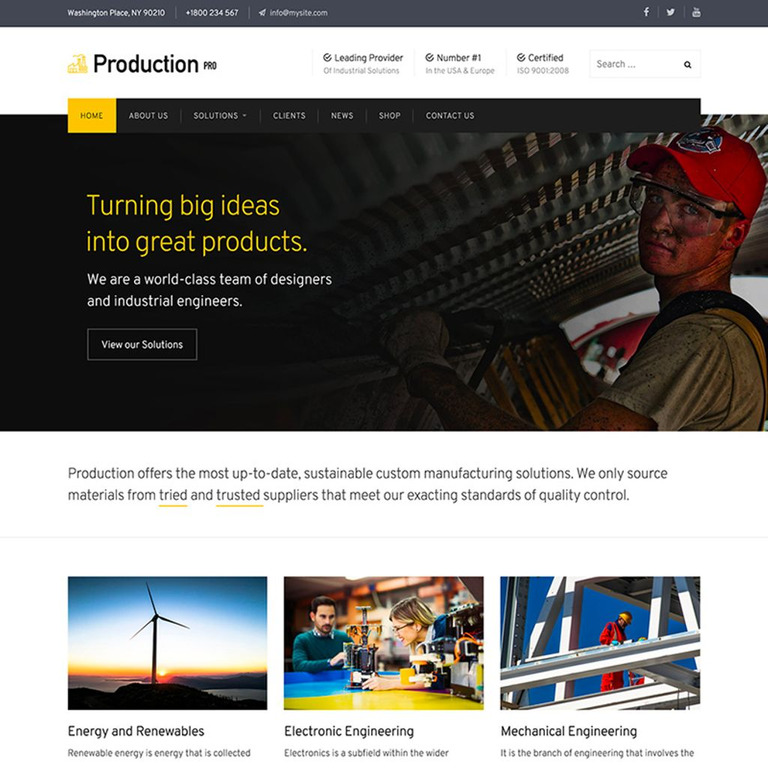 production pro wordpress theme big screenshot