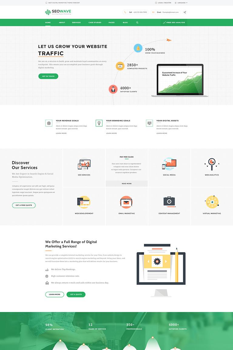 Seo wave - Seo & Marketing WordPress Theme #65828