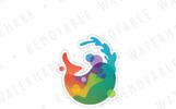 Whale Art Logo Template