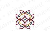 Equilateral Celtic Cross Logo Template