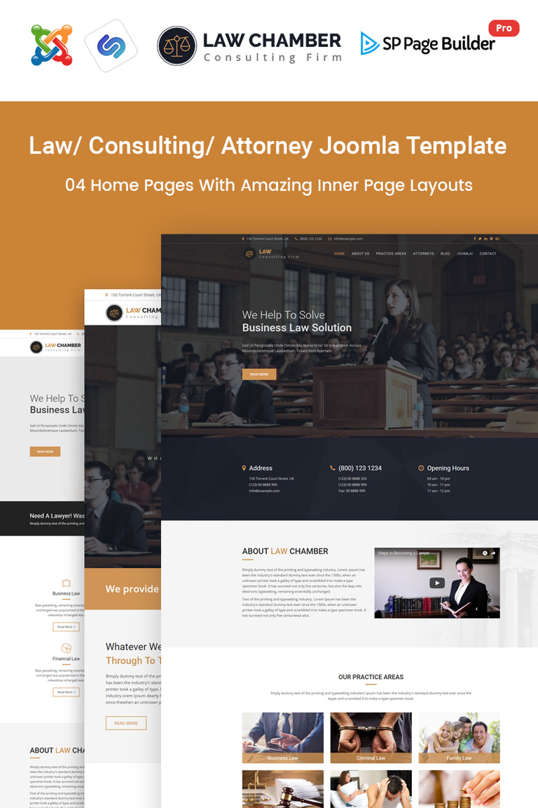 Law Chamber - Law Firm Joomla Template #65838