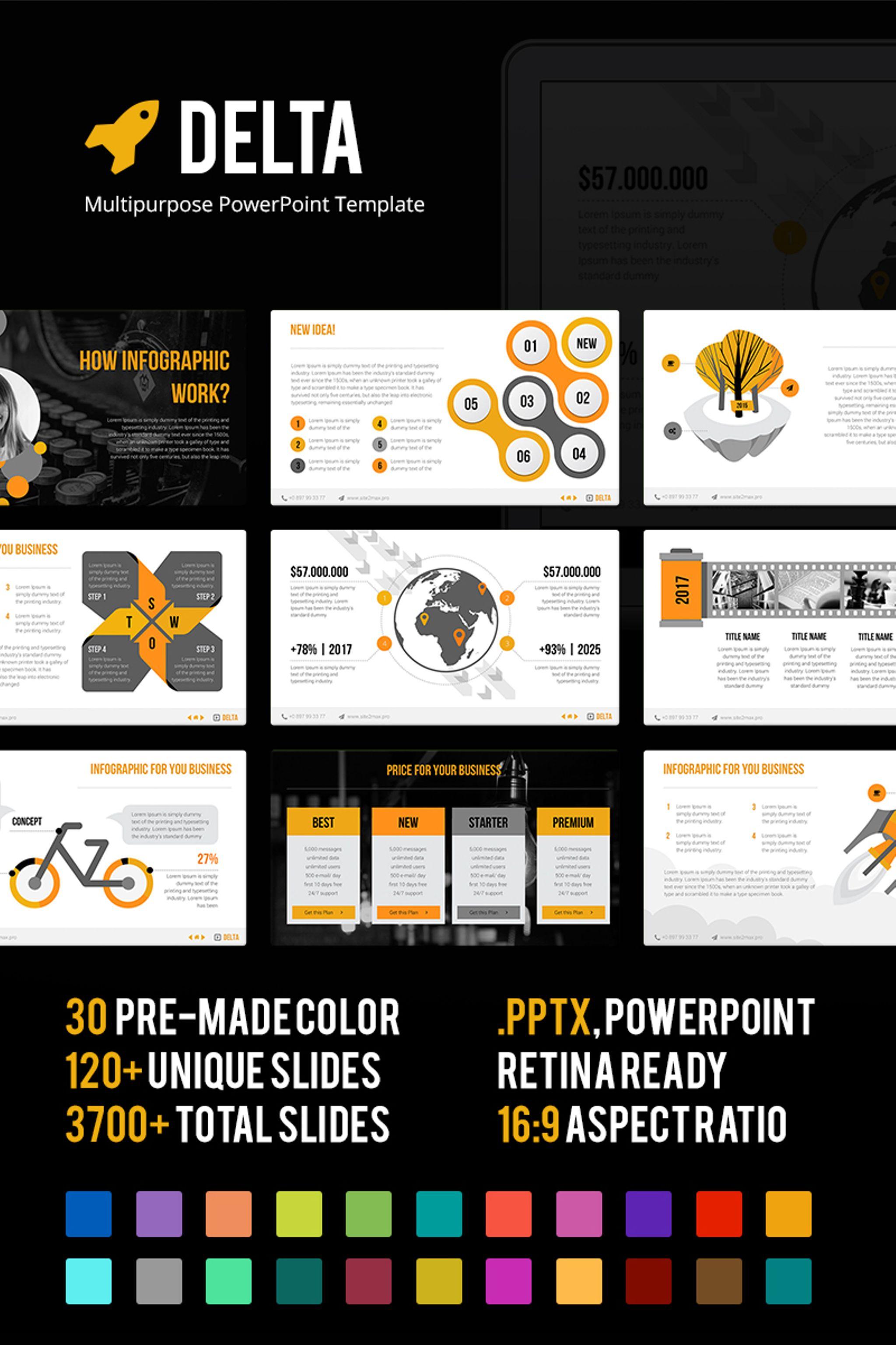 PowerPoint Vorlage #65893 für Design und Fotografie