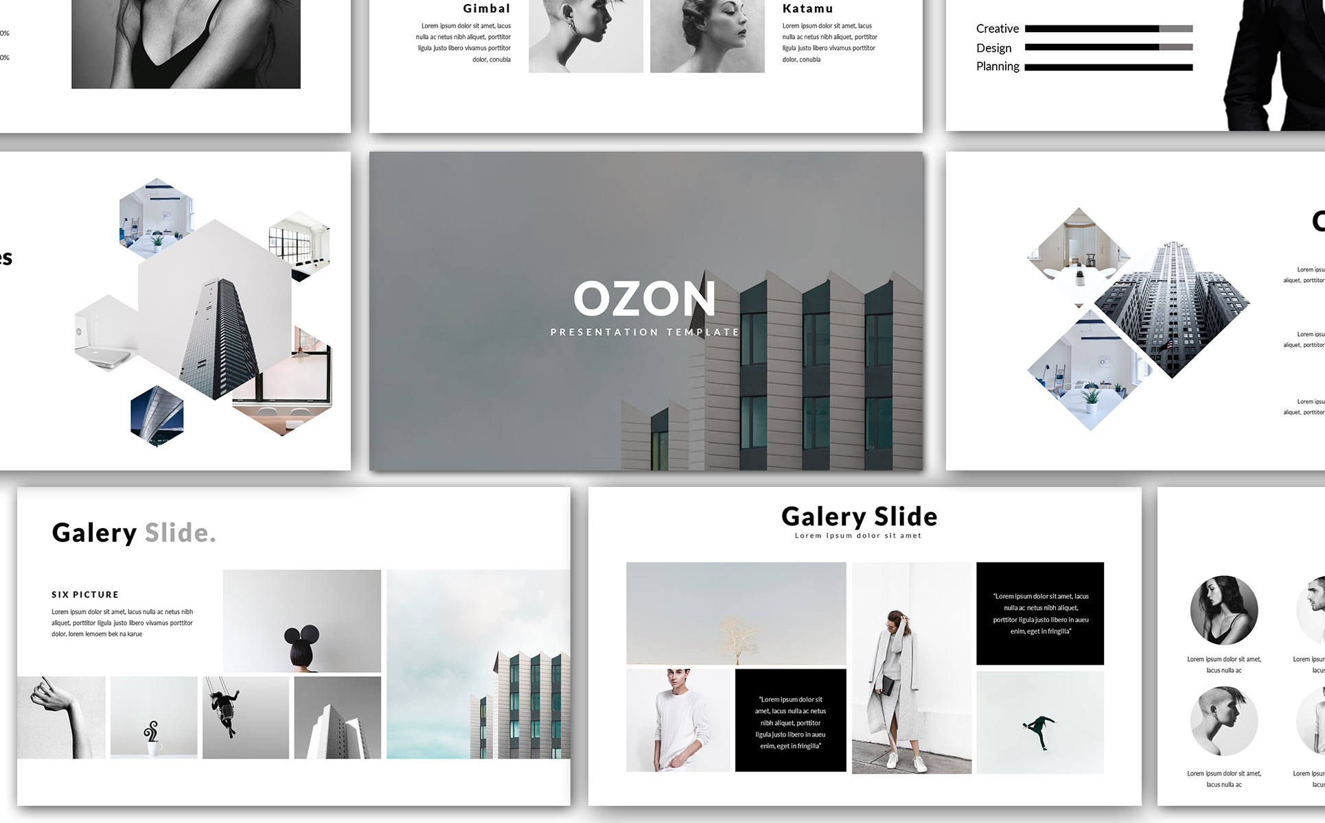 ozon minimal powerpoint template #65924, Presentation templates