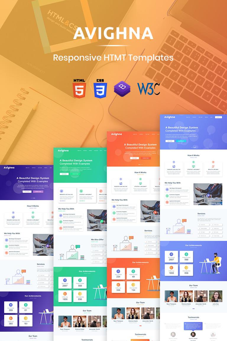 Avighna Responsive Minimal Business Website Template New Screenshots