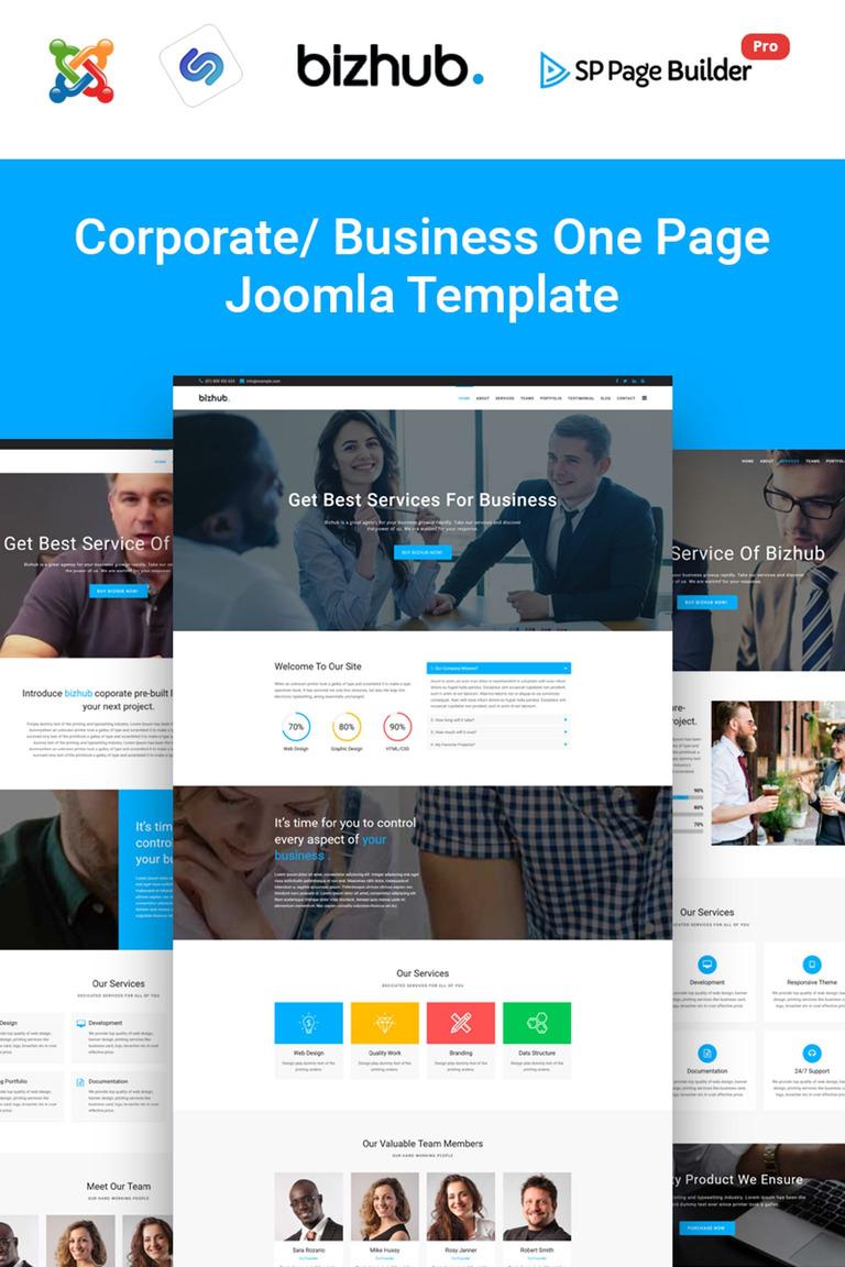 Bizhub Business One Page Joomla Template 65895