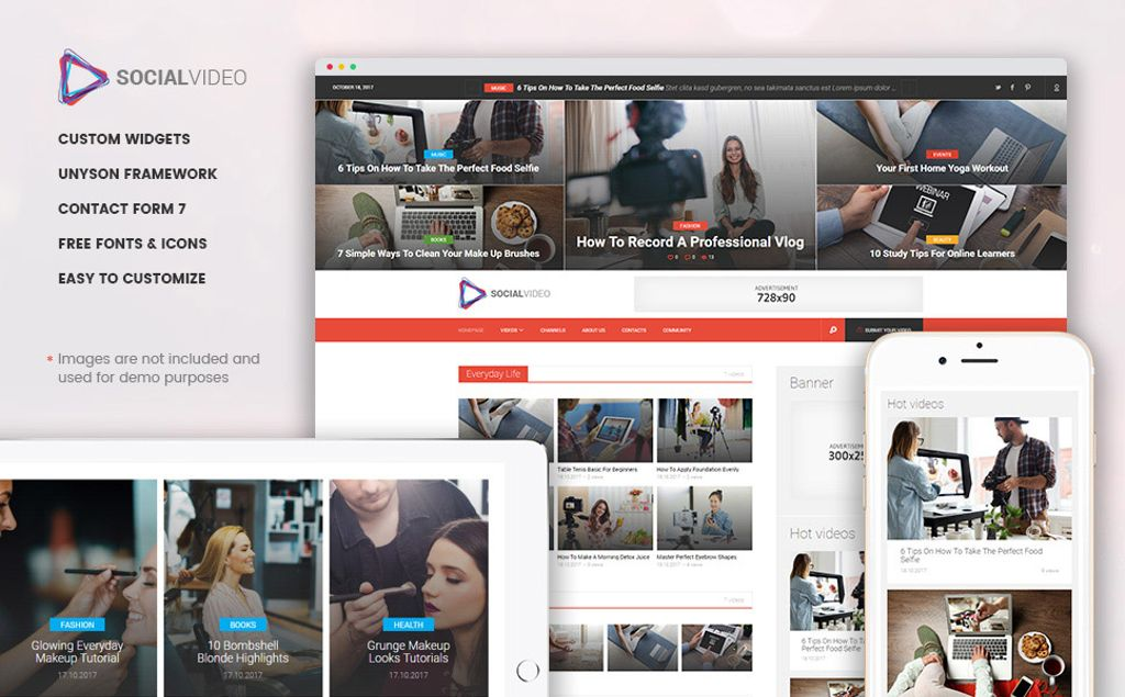 SocialVideo - Viral Youtube And Vimeo Video Magazine WordPress Theme ...