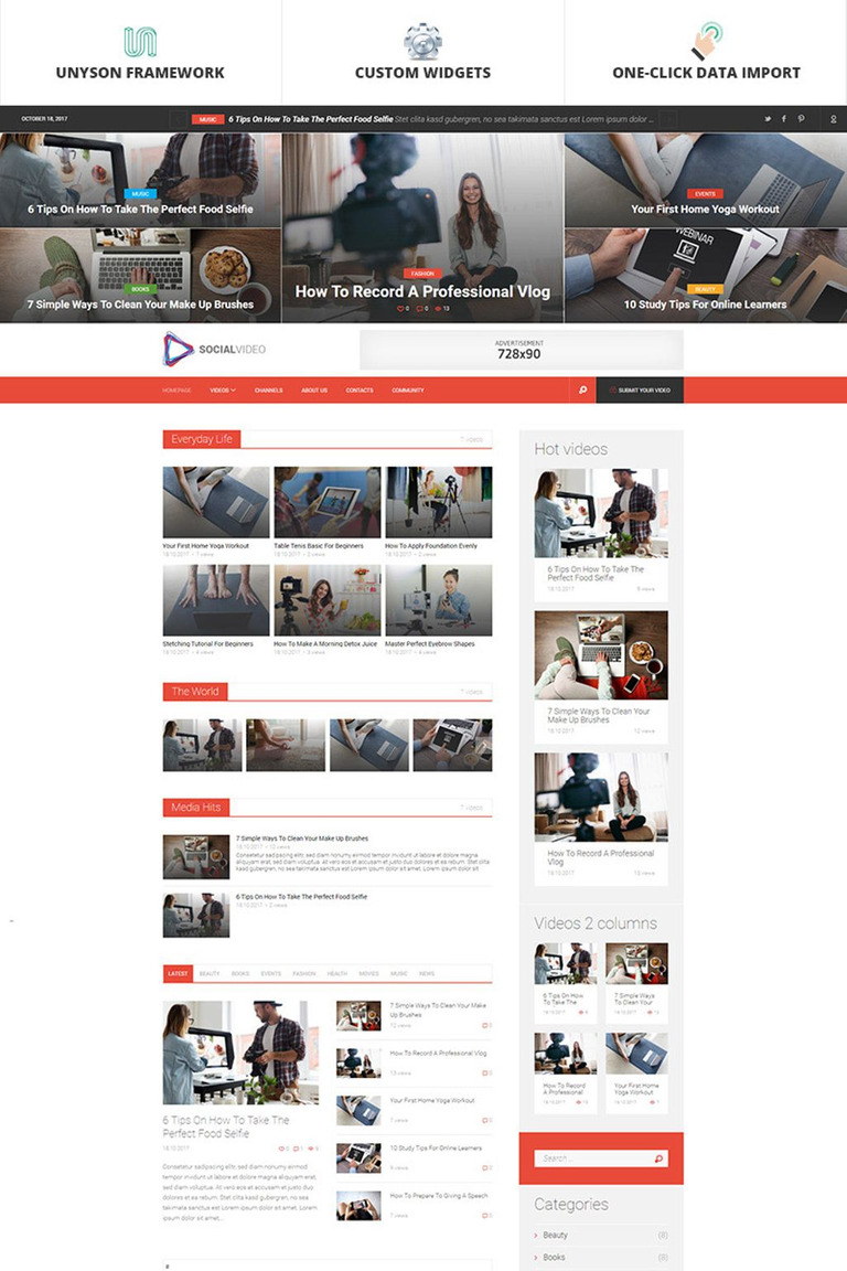 WordPress Theme #65927 für Videographen-