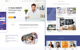 Web Path - One Page PSD sablon