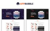 """Bootstrap PSD šablona """"AppBubble"""""""