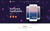 "Tema PSD Bootstrap #79893 ""AppBubble"""