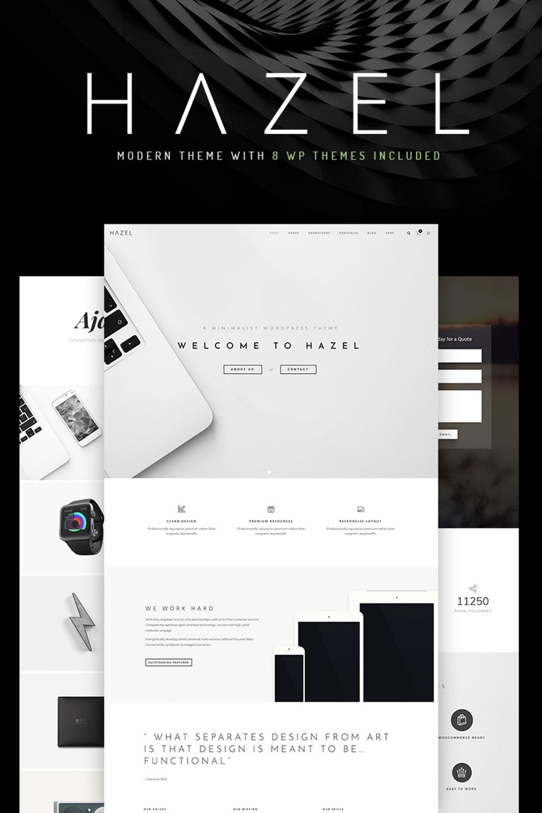 Hazel - Clean Minimalist Multi-Purpose WordPress Theme #67167