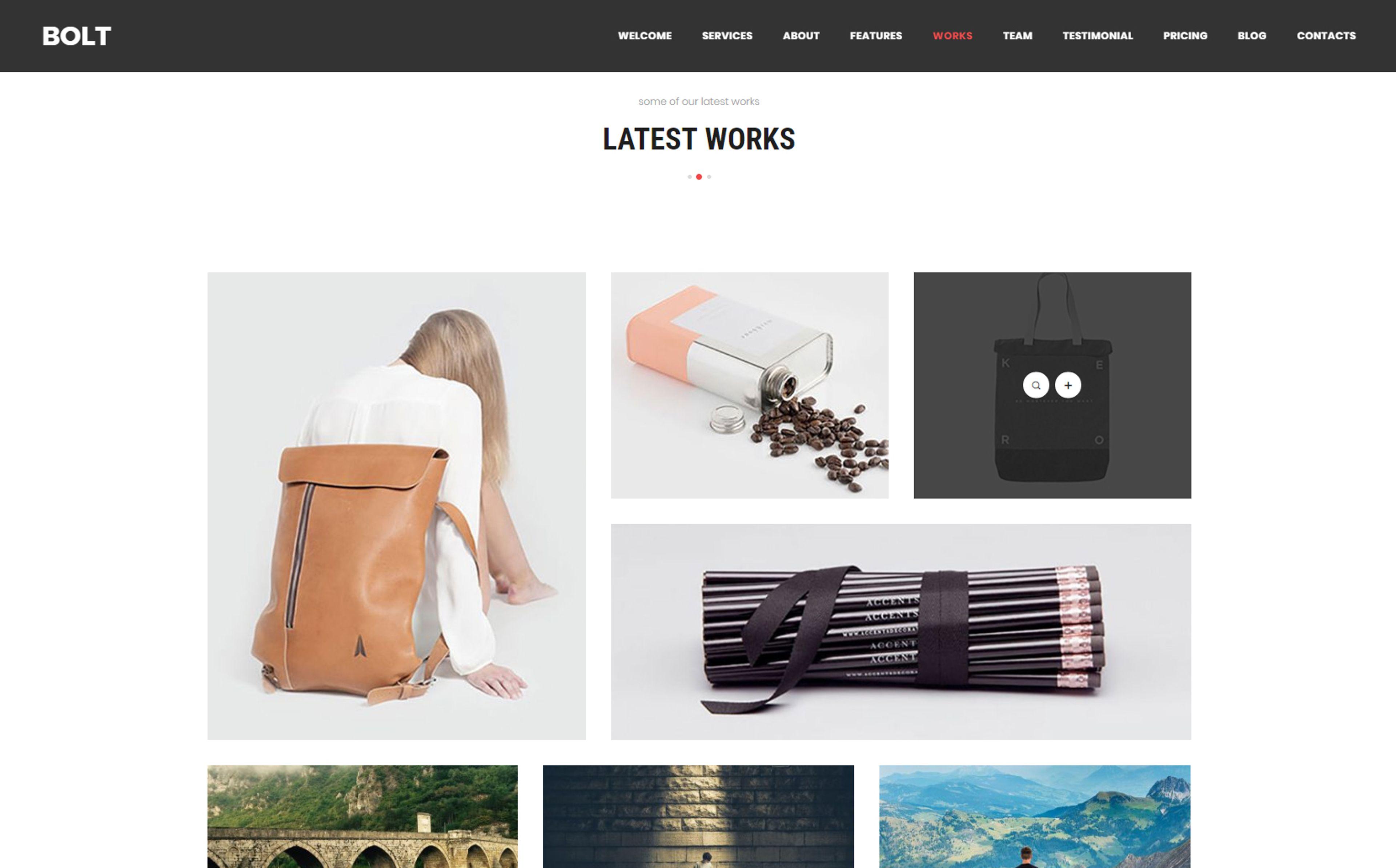 Bolt Creative e page Portfolio WordPress Theme