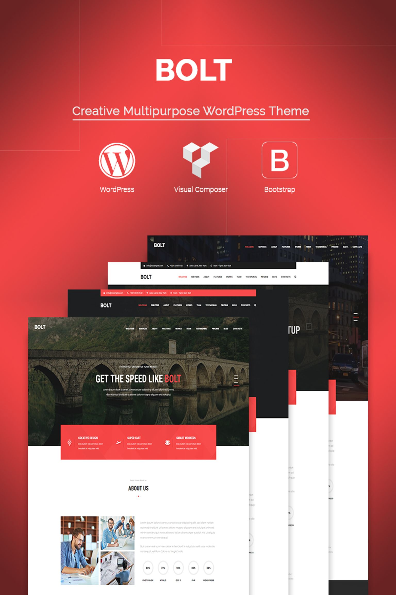 Bolt Creative e page Portfolio WordPress Theme