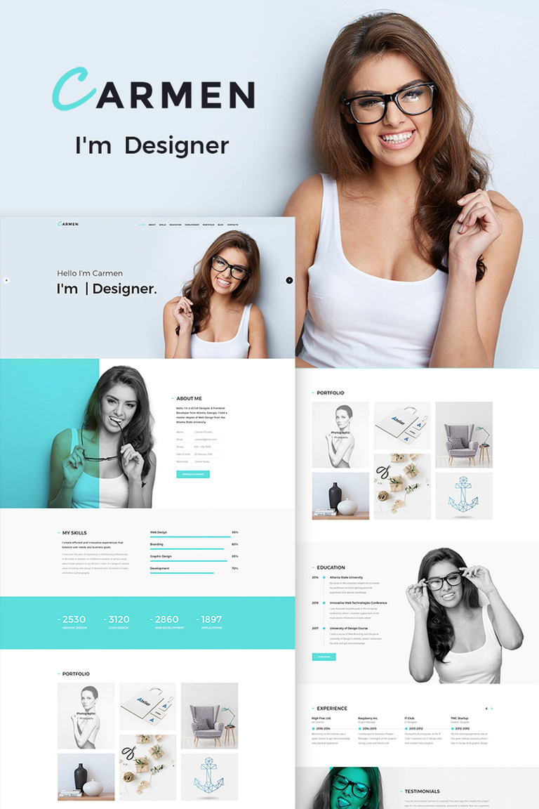 Carmen Design Portfolio WordPress Theme