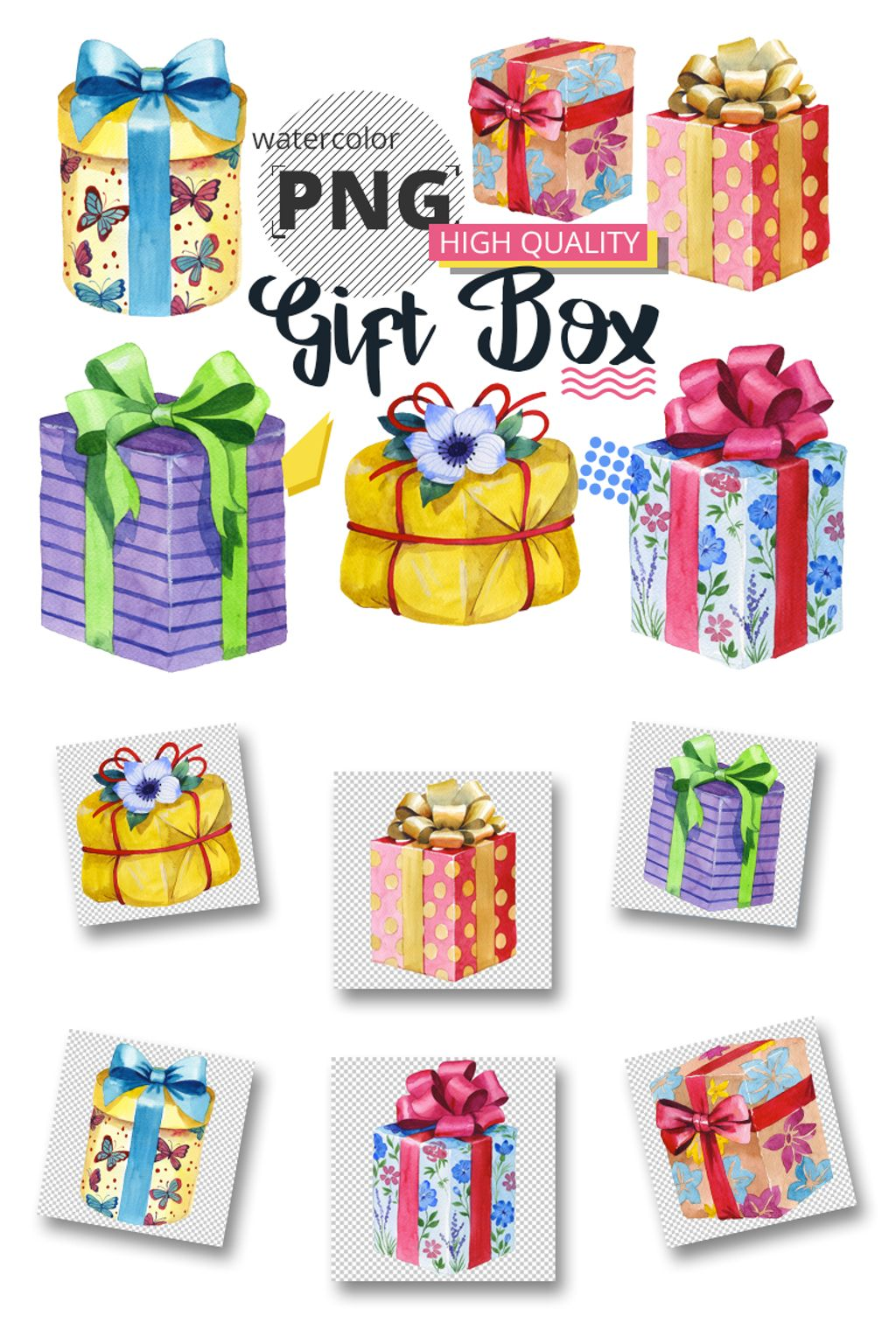 Gift boxes watercolor png set illustration 65913 gift boxes watercolor png set illustration negle Image collections