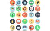 Flat Bundle: 475 Stylish Icons Iconset Template