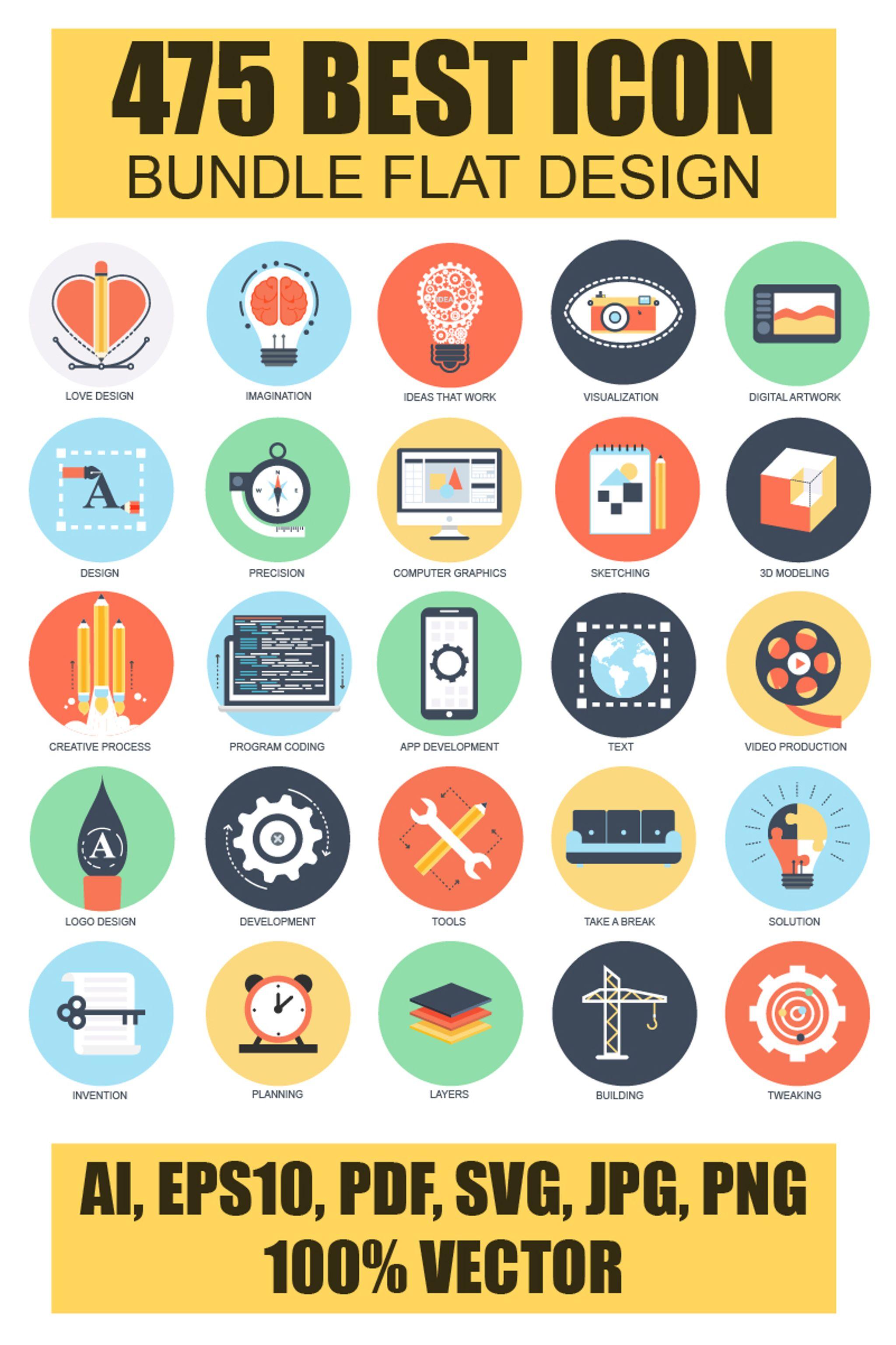 Icon-Sammlungen Vorlage #65896 für Ausbildung und Bücher