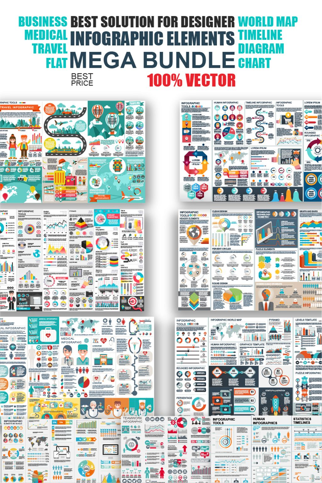 Infografik-Elemente #65918 für Medizin