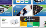 "PowerPoint šablona ""Mockingbird Pitch Desk Pro"""