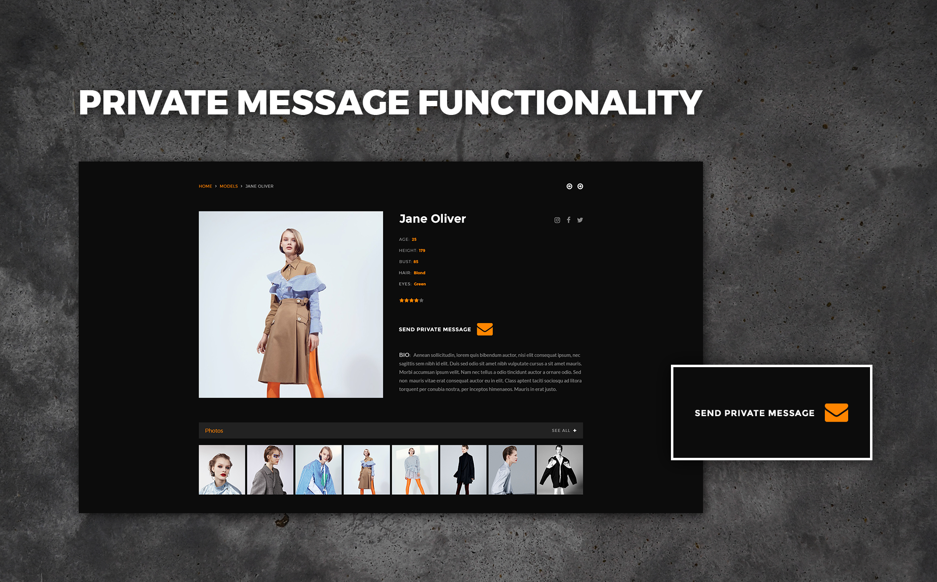 Top Models PSD Template #65962