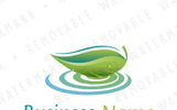 Leaf on Water Logo Template