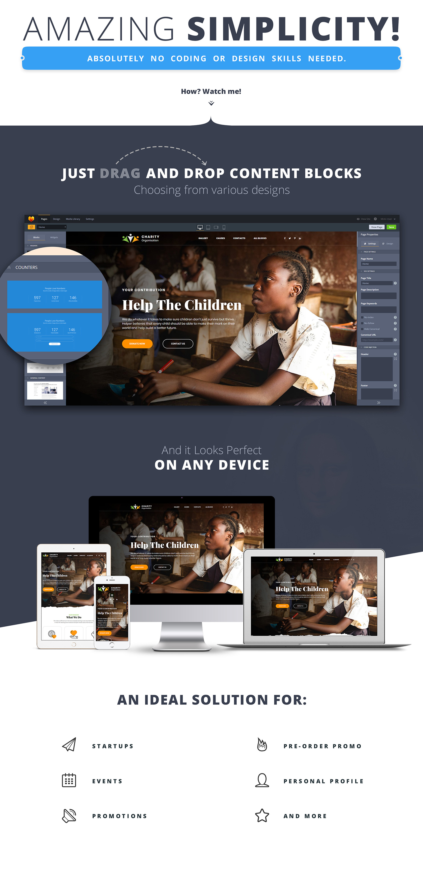 Charity - Foundation Landing Page Template