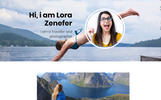 Lora Personal Blog Bootstrap Website Template
