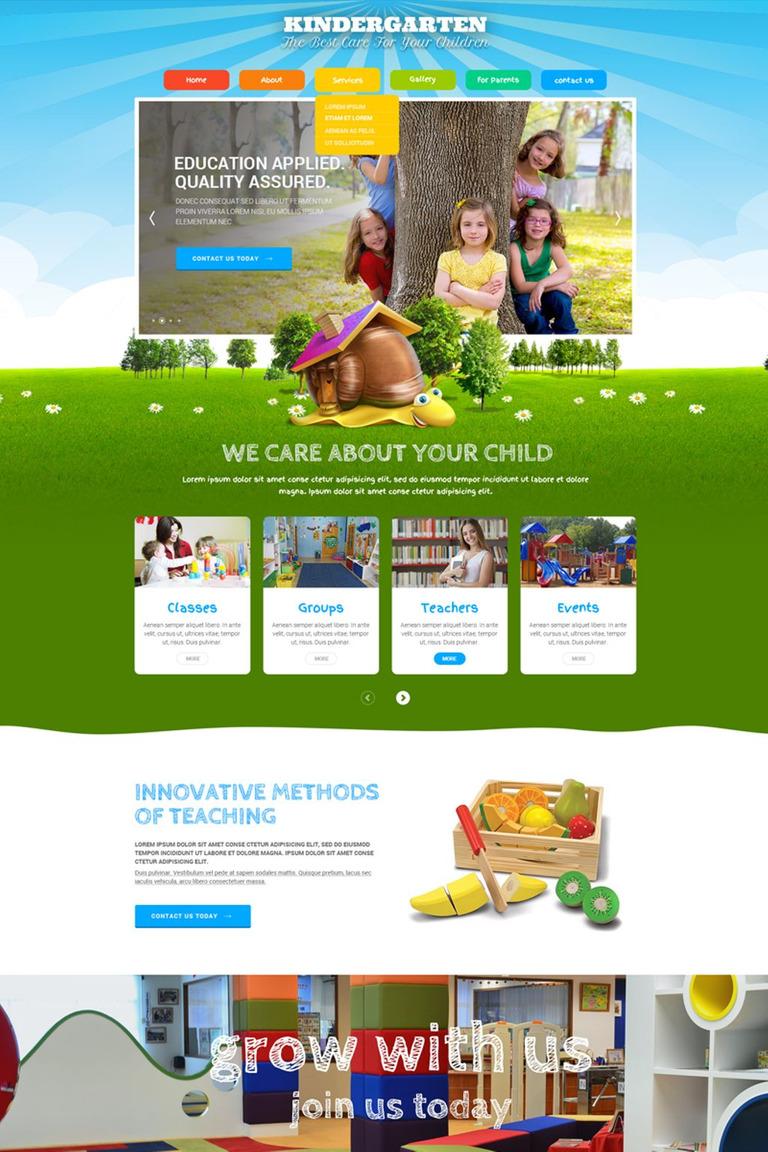 Website Vorlage #65961 für Grundschule